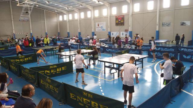 20 centro escolares de la Región compitieron en Mazarrón por ser los líderes del tenis de mesa de Deporte Escolar - 2, Foto 2