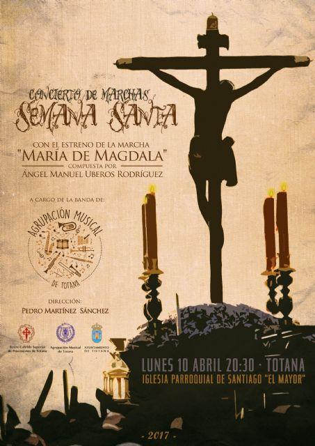 La Agrupación Musical de Totana celebra hoy Lunes Santo su tradicional Concierto de Marchas Pasionarias,, Foto 1