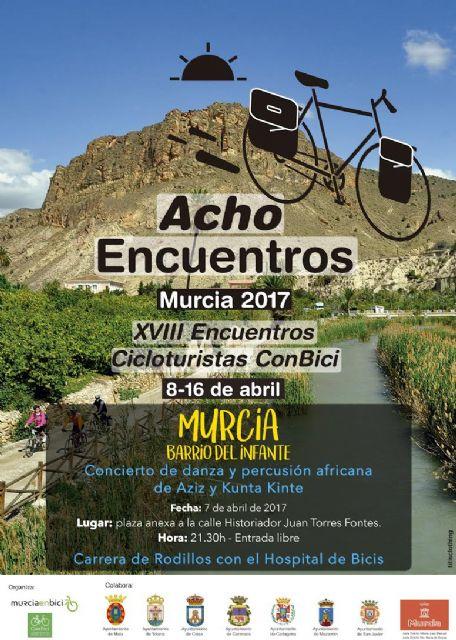 Este viernes comienzan en Murcia los XVIII encuentros cicloturistas conbici, los Achoencuentros, Foto 2