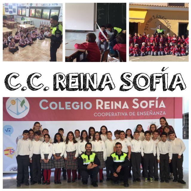 Un total de 370 escolares del Colegio Reina Sofía participan en las sesiones formativas de la Escuela de Educación Vial de la Policía Local, Foto 1
