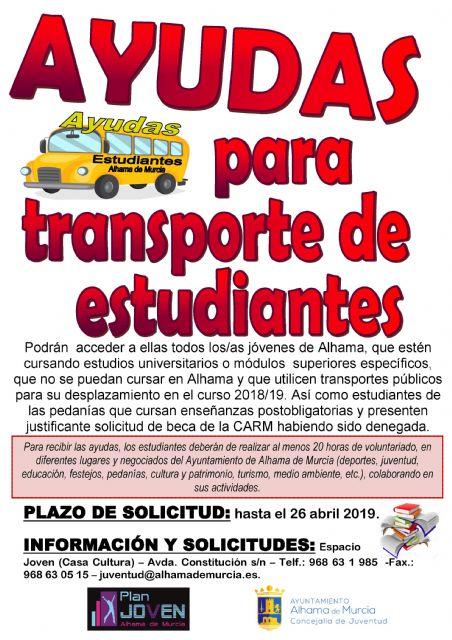 Ayudas para el transporte de estudiantes. Curso 2018-2019, Foto 1