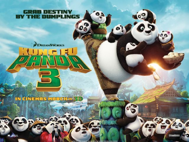 La película de animación infantil Kun Fu Panda 3 se proyecta este próximo fin de semana, Foto 1