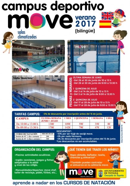 Totana campus verano 2017 for Piscina cubierta alcantarilla