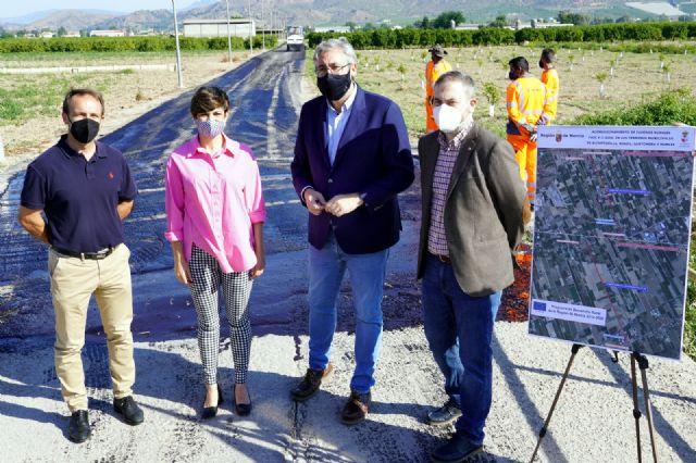 La Comunidad ultima los trabajos de acondicionamiento de dos caminos rurales en Santomera para los que ha destinado más de 150.000 euros - 1, Foto 1
