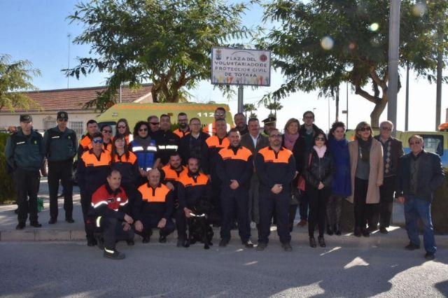 The incorporation of six new volunteers and a professional collaborator to the Association of Volunteers of Civil Protection of Totana - 1