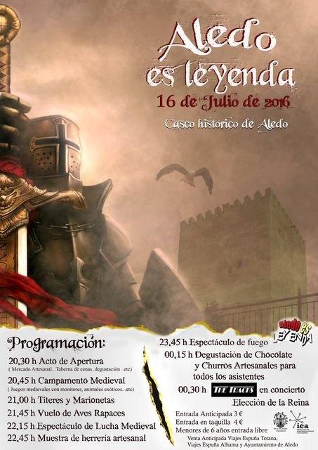 Aledo es Leyenda tendrá lugar el sábado 16 de julio en Aledo, Foto 2