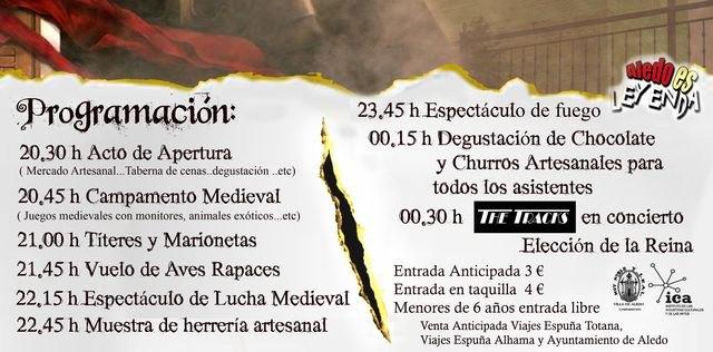 Aledo es Leyenda tendrá lugar el sábado 16 de julio en Aledo, Foto 3