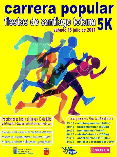 La Carrera Popular Fiestas de Santiago se celebrará el próximo 15 de julio dentro del programa de actividades deportivas de los festejos patronales, Foto 2