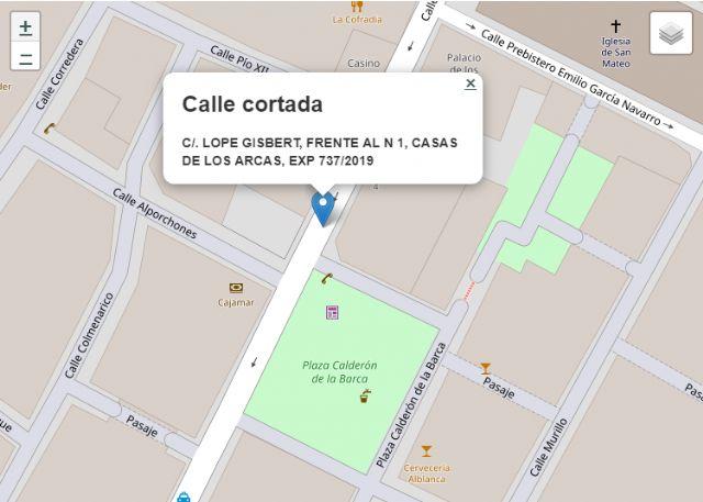Este sábado se cortará al tráfico la calle Lope Gisbert, entre las 8 y las 15 horas, debido al montaje de una grúa torre - 1, Foto 1