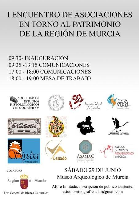 Se reúnen por primera vez las asociaciones en torno al patrimonio histórico de la Region de Murcia, Foto 2