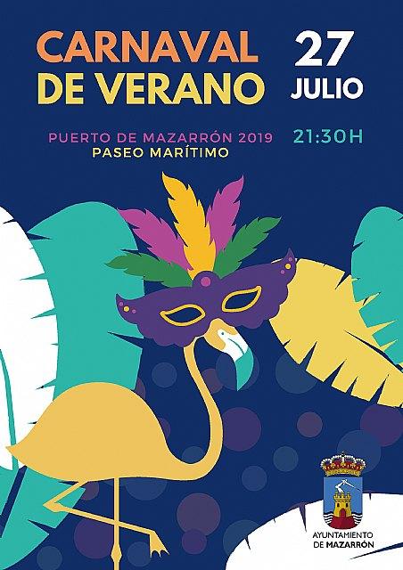 El Carnaval de Verano de Puerto de Mazarrón se celebrará el sábado 27 de julio, Foto 1