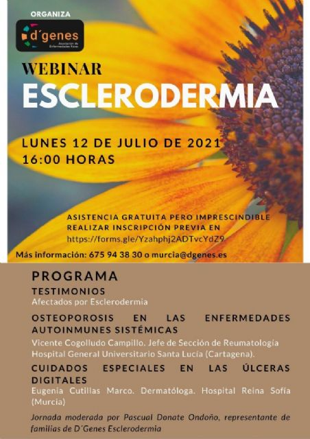 D´Genes organiza un webinar sobre Esclerodermia el próximo 12 de julio - 1, Foto 1