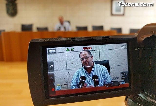 El alcalde de Totana ofreci� una rueda de prensa sobre el Plan General, Foto 1