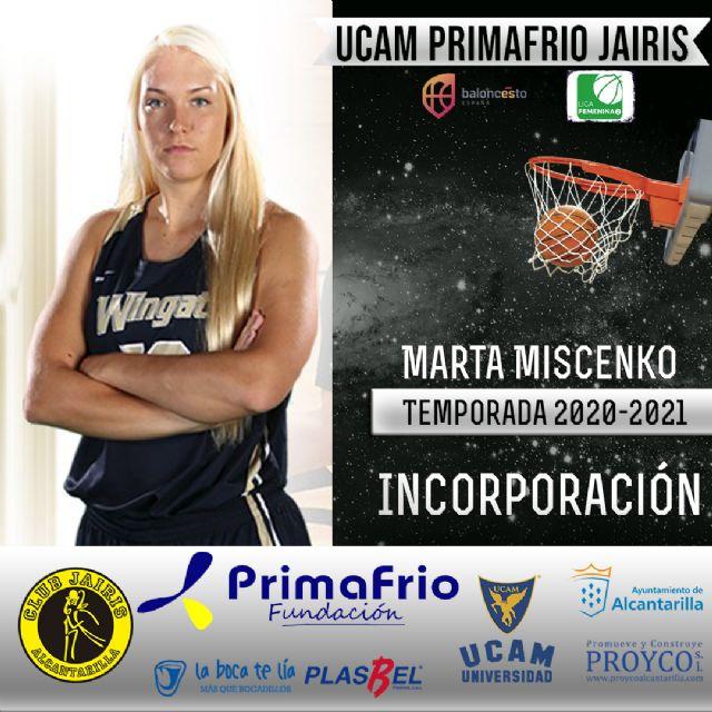 Marta Miscenko refuerza el juego interior del UCAM Primafrio Jairis de LF2 - 1, Foto 1