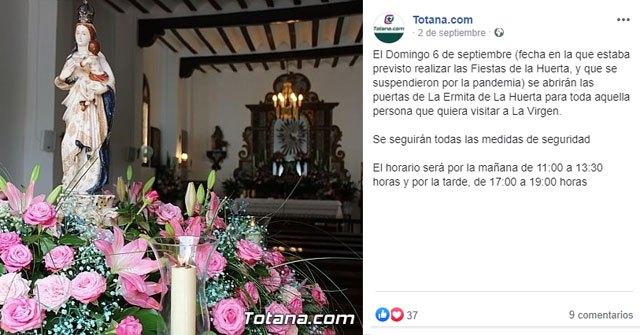 La Fiesta de la Virgen de La Huerta de Totana. Sept-2020, Foto 5