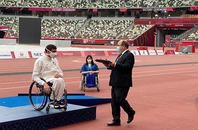 Iceta entrega las medallas de Maratón masculino en silla de ruedas categoría T54 en los Juegos Paralímpicos de Tokio - 1, Foto 1