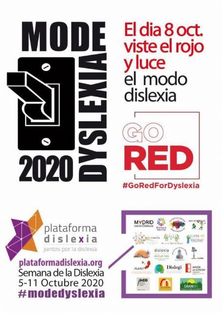 Jumilla volverá a hacer visible la dislexia iluminando de rojo el Ayuntamiento y la Plaza del Camionero - 2, Foto 2