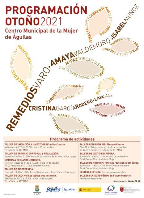 La Concejalía de Igualdad presenta su oferta de talleres de otoño - 1, Foto 1