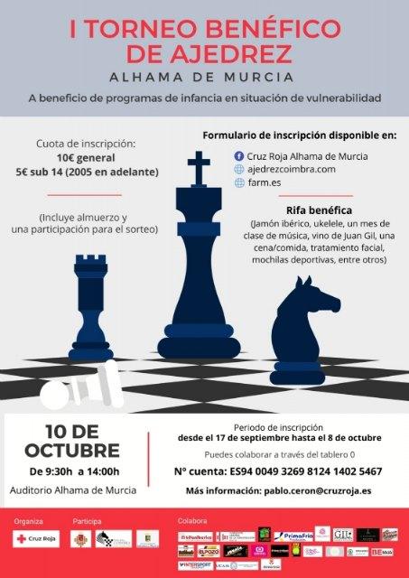 Inscríbete en el I Torneo Benéfico de Ajedrez que organiza Cruz Roja - 1, Foto 1