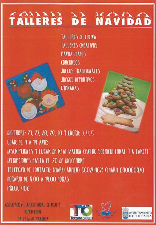 La asociación de ocio y tiempo libre La Caja de Pandora de Totana organiza varios talleres navideños, Foto 1