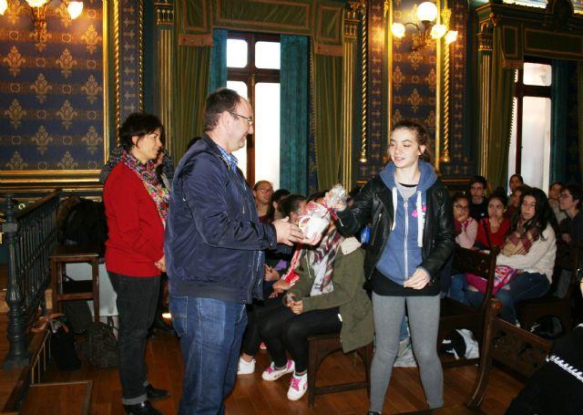 Alumnos de intercambio franceses visitan Casas Consistoriales, Foto 1