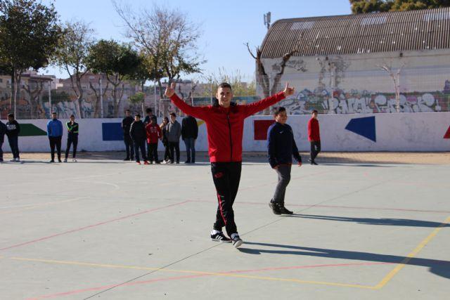 Fernando prepara su vuelta a la pista con los escolares del IES Mariano Baquero y junto a Fede y Marinovic - 3, Foto 3