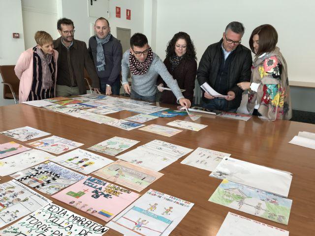 Álvaro Sánchez del colegio Ntra. Sra. del Rosario ganador del primer premio del Concurso de Dibujo Infantil Media Maratón de Torre-Pacheco - 2, Foto 2