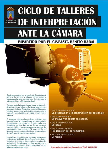 Vuelve el ciclo de talleres de cine impartido por Benito Rabal - 2, Foto 2