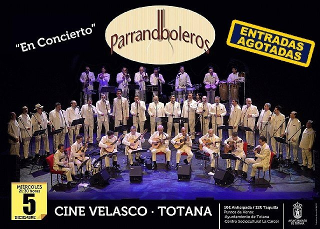 "Sold out tickets for the musical performance of ""Los Parrandboleros"" that is held tonight at the Cinema Velasco - 1"