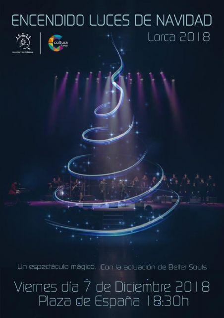 Lorca dará la bienvenida a la Navidad este viernes con un espectáculo de luces, sonido y un concierto de música góspel en la Plaza de España - 1, Foto 1