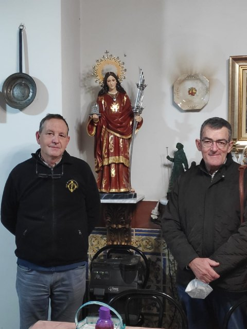 La Asociaci�n de la Virgen y M�rtir Santa Eulalia de M�rida dona una imagen de Santa Eulalia al GACA XI, Foto 5