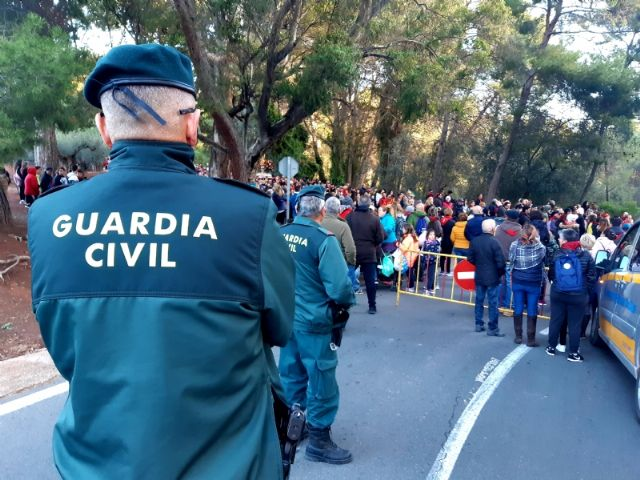 More than 50 troops integrate the safety device of the pilgrimage back from La Santa to its sanctuary, tomorrow, Tuesday, January 7, Foto 3