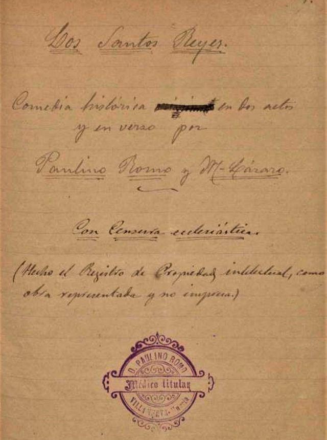 Los Santos Reyes de Villanueva del Río Segura, 1895. El Auto teatral de don Paulino Romo Martínez-Lázaro - 2, Foto 2