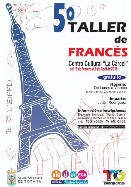 "The 5th French Workshop is organized, from February 19 to April 6, at the Sociocultural Center ""La Cárcel"""