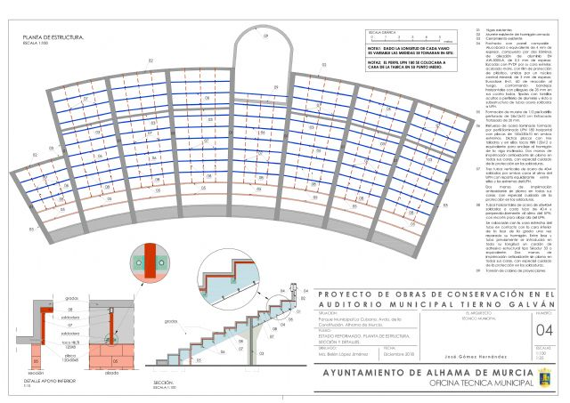 El auditorio municipal Tierno Galván contará con unas gradas seguras y renovadas, Foto 1