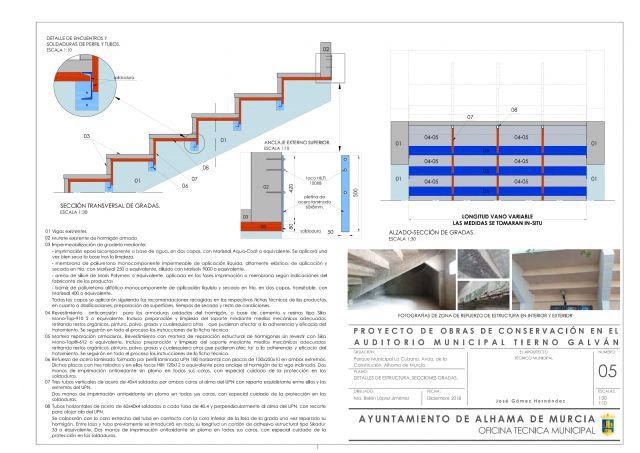 El auditorio municipal Tierno Galván contará con unas gradas seguras y renovadas, Foto 2