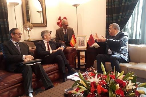 Grande-Marlaska destaca en Rabat el ejemplar trabajo conjunto de las fuerzas de seguridad de España y Marruecos - 1, Foto 1