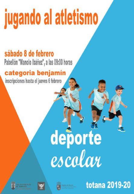 La Fase Local de Jugando al Atletismo de Deporte Escolar este s�bado 8 de febrero, Foto 1