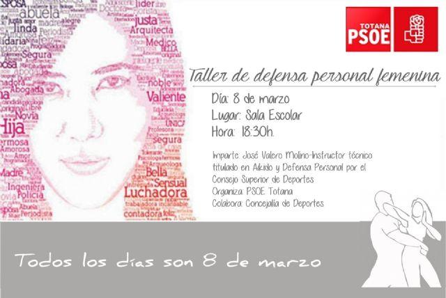 El PSOE de Totana se organiza un taller de defensa personal femenina con motivo del Día Internacional de la Mujer, Foto 1