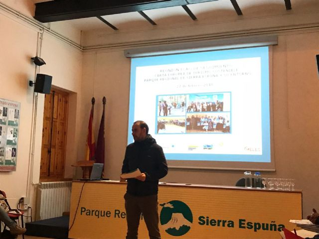 Follow-up Forum of the European Charter for Sustainable Tourism of the Sierra Espuña Territory The meeting was attended by the Councilors for Environment and Tourism, Antonia Camacho and Inmaculada Blázquez, and municipal technicians from both manage - 5
