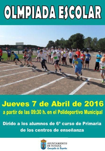Mañana tendrá lugar una Olimpiada Escolar en el Polideportivo Municipal 6 de diciembre, Foto 1