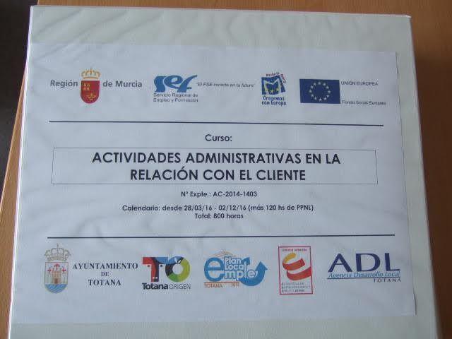 Se inaugura el Curso Actividades administrativas en la relación con el cliente, Foto 7
