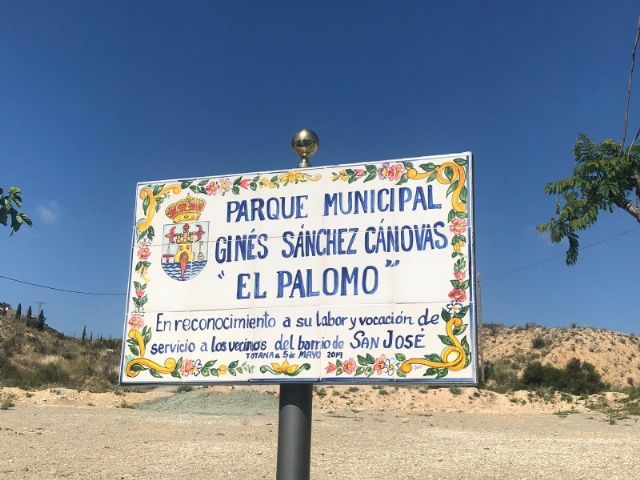 """The name of Ginés Sánchez Cánovas """"El Palomo"""" is given to the new green areas and children's playground built in the San José neighborhood, in compliance with the plenary agreement - 3"""