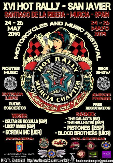 El XVI Hot Rally San Javier espera recibir más de 3500 motos y unas 6000 personas del 24 al 26 de mayo en Santiago de la Ribera - 1, Foto 1