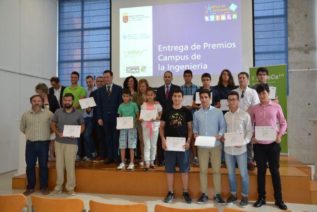 El colegio Los Rosales, de El Palmar, y el instituto Jiménez de la Espada, de Cartagena, ganan de los premios del Campus de la Ingeniería - 1, Foto 1