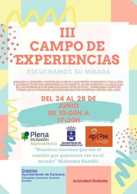 Abierto el plazo de inscripción en el  'Campo de Experiencias: Escuchamos su mirada', que se celebra en APCOM - 3, Foto 3