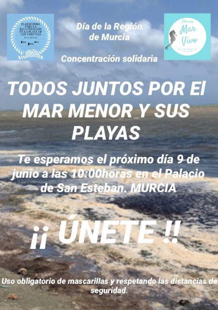 La Plataforma para La Recuperación De La Playa de Los Urrutias y Su Entorno y Por un Mar Vivo convocan una concentración - 1, Foto 1