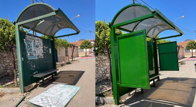 El Ayuntamiento de Lorca continúa llevando a cabo el Plan de choque para el arreglo y mantenimiento de las marquesinas de pedanías - 1, Foto 1
