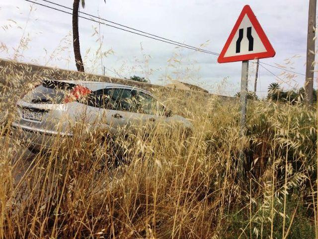 Solicitan a la Dirección General de Carreteras la limpieza de cunetas en varias vías secundarias y la travesía de El Paretón-Cantareros, Foto 2
