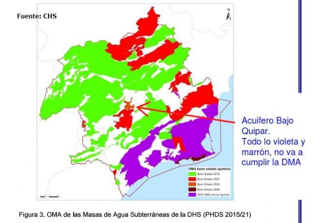 El Consejo para la Defensa del Noroeste denuncia el gravísimo deterioro del acuífero del Bajo Quípar - 1, Foto 1